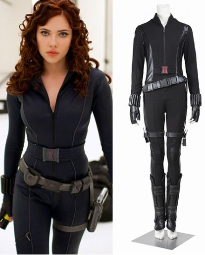 Black Widow Natasha Captain America Winter Soldier Cosplay Costume