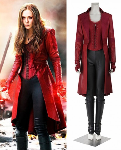 Scarlet Witch Captain America Civil War Cosplay Costume