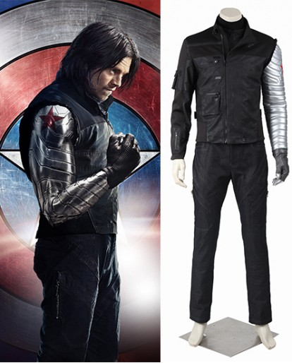 Winter Soldier Captain America Civil War Cosplay Costume