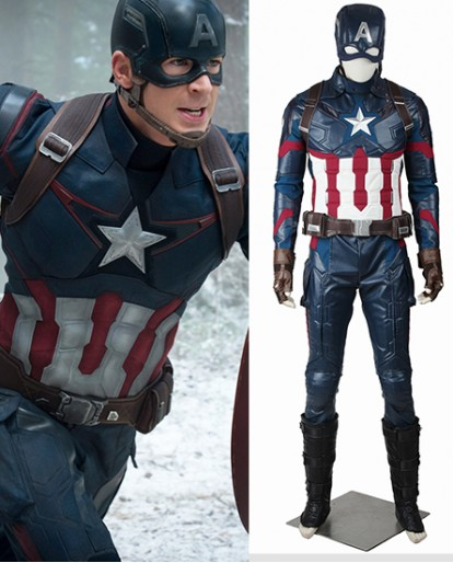 Captain America Steve Rogers Captain America Civil War Cosplay Costume