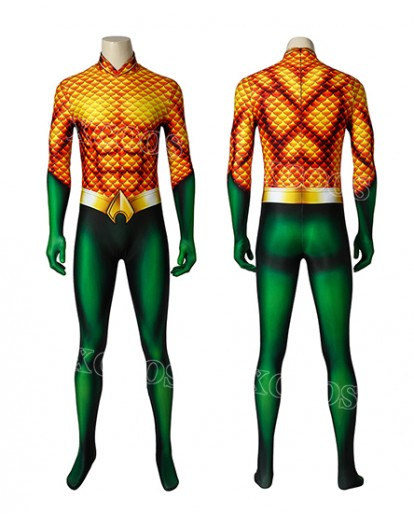 Aquaman Man Arthur Curry Cosplay Costume Zenai Suit Jumpsuit