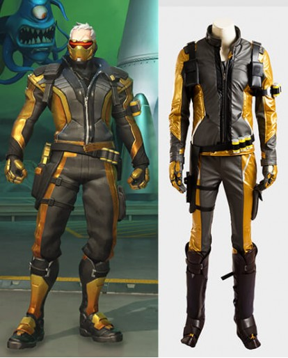 Overwatch John Jack Morrison Golden Cosplay Costume