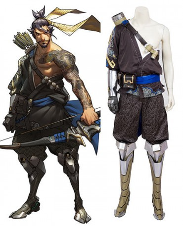 Overwatch Hanzo Cosplay Costume