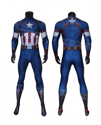 Avengers: Age of Ultron Captain America Steve Rogers Cosplay Costume