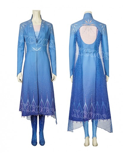 Frozen 2 Elsa Woman Cosplay Costume