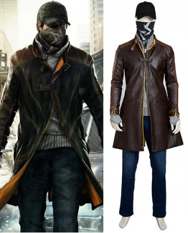 Watch Dogs Aiden Pearce Cosplay Costume