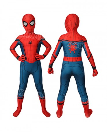 Marvel Captain America Civil War Spider-Man Kids Cosplay Costume Jumpsuit