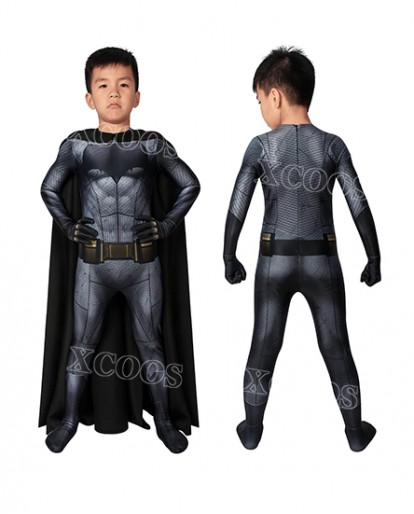 DC Batman v Superman: Dawn of Justice Batman Bruce Wayne Kids Cosplay Costume Jumpsuit
