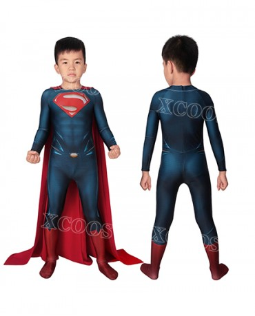 DC Superman Man of Steel Superman Clark Kent Kids Cosplay Costume Jumpsuit