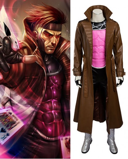 X-Men Origins Gambit Cosplay Costume
