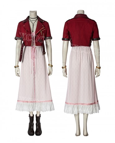 Game Final Fantasy VII FF7 Aerith Gainsborough Cosplay Costume