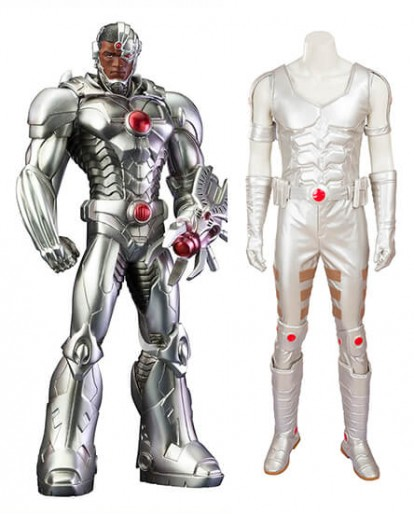 Justice League Cyborg Victor Stone Cosplay Costume
