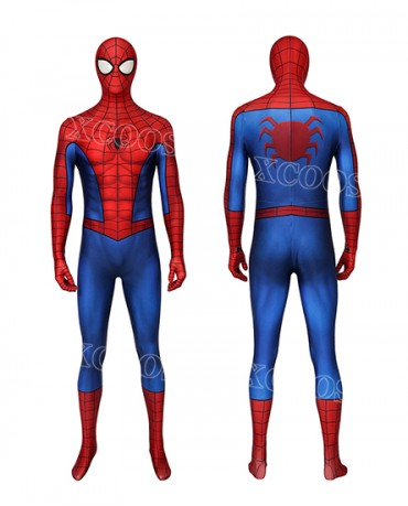 Spiderman PS4 3D Classic Suit (Repaired) Cosplay Costume