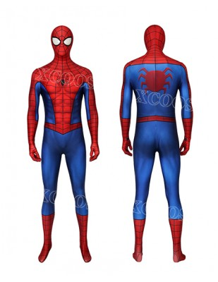 Spiderman PS4 Cosplay Classic Suit Repaired Zentai Jumpsuit Costume Party Suit