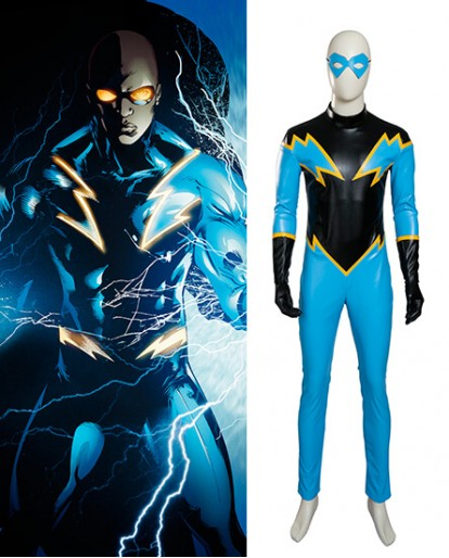 Black Lightning Jefferson Michael Pierce Cosplay Costume
