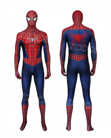 Spider-Man 2 Spiderman Peter Parker Tobey Maguire Cosplay Costume