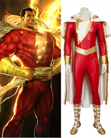 Shazam/Captain Marvel William Joseph Batson Cosplay Costume
