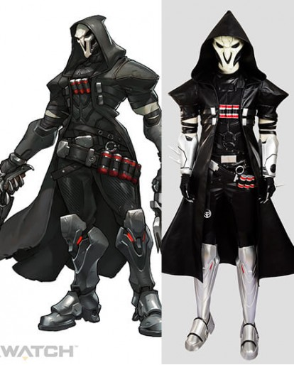Overwatch Reaper Cosplay Costume