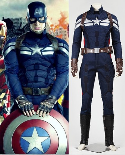 Captain America The Winter Soldier Steve Rogers Cosplay Costume