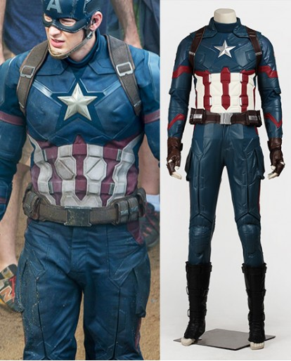 Captain America 3 Civil War Cosplay Steve Rogers Cosplay Costumes