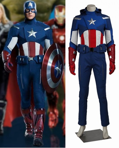 Captain America outfit worn by Steve Rogers Costumes in the Avengers Assemble