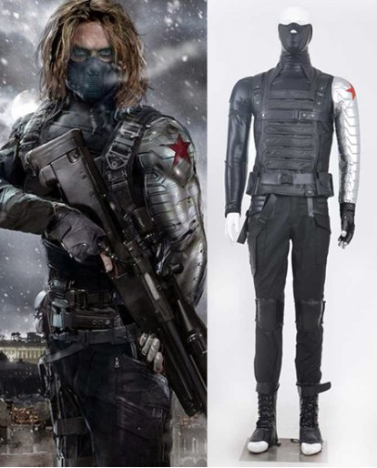 Captain America 2 Winter Soldier Cosplay Costume