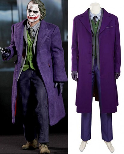 Batman The Dark Knight The Joker B Type Wool Fabric Cosplay Costume