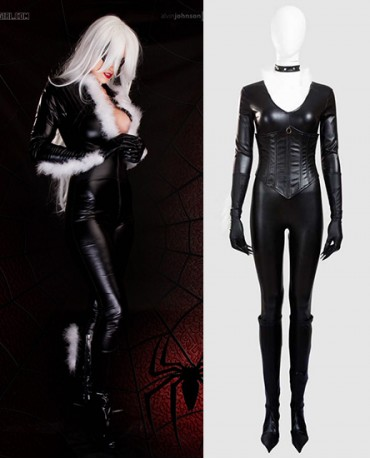 Black Cat Felicia Hardy The Amazing Spider -Man Cosplay Costume