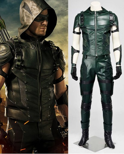 Green Arrow season 4 Oliver Queen A Type Cosplay Costume