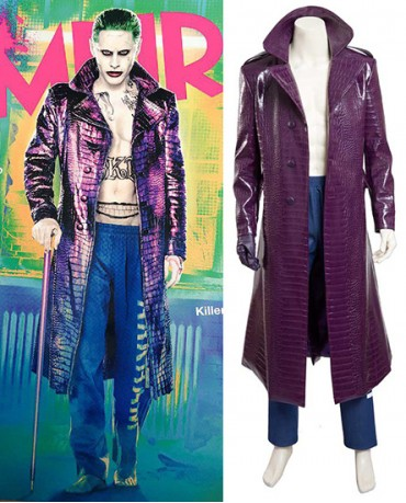 Suicide Squad/Task Force X Joker Jared Leto Cosplay Costume