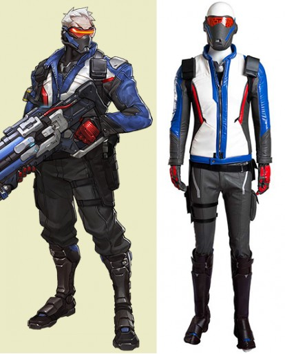 Overwatch Soldier 76 Full Set Cosplay Costume