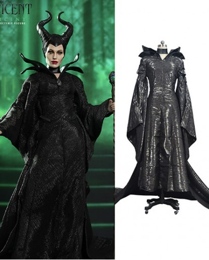 Movie Maleficent Angelina Jolie Costume Halloween Cosplay