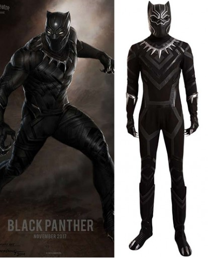 Captain America Black Panther Cosplay Costume
