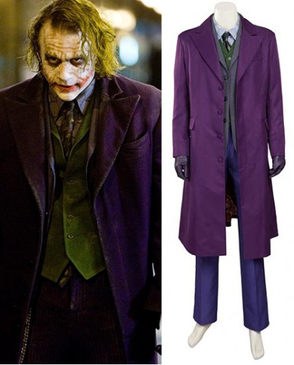 The Dark Knight The Joker A Type Nylontaffeta overcoat Cosplay Costume