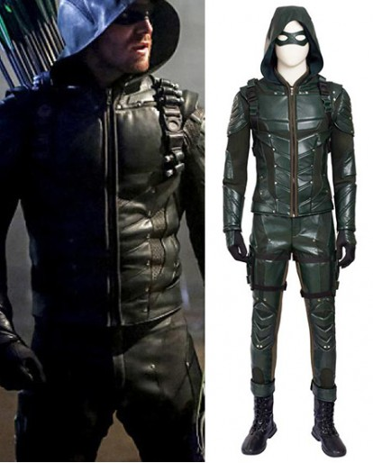 Oliver Queen Arrow Season 5 Cosplay Costume
