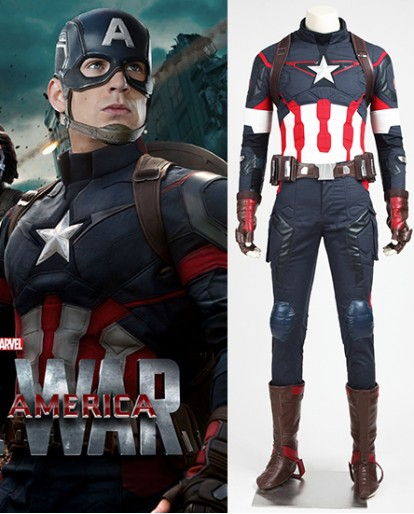 Captain America The Avengers Age of Ultron Cosplay Costume