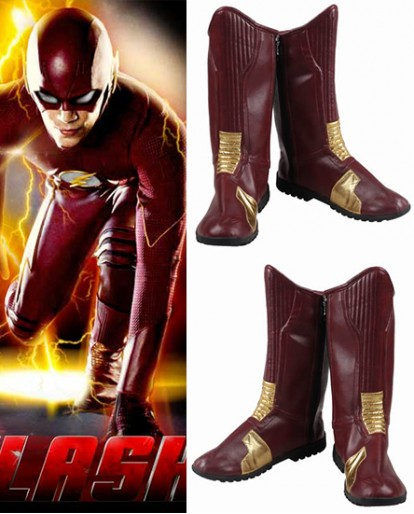 The Flash Barry Allen Season 1 Brown Shoes Cosplay Boots
