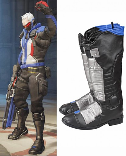Soldier 76 Overwatch Game Shoes Cosplay Boots