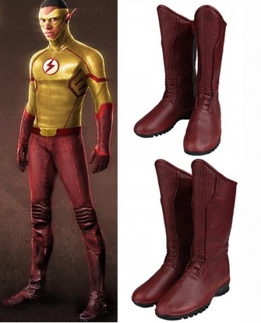 Kid Flash Wally West The Flash season 3 Red Shoes Cosplay Boots