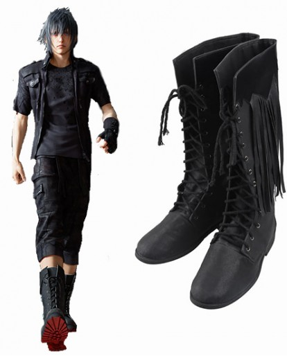 Noctis Lucis Caelum Final Fantasy XV Black Shoes Cosplay Boots