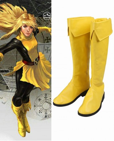 X-Men Magik Yellow Shoes Cosplay Boots