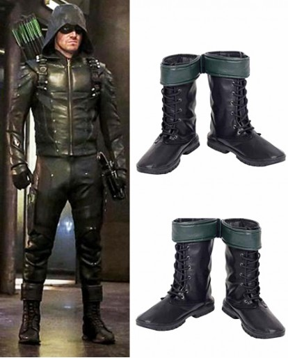 Oliver Queen Green Arrow Season 5 Cosplay Boots