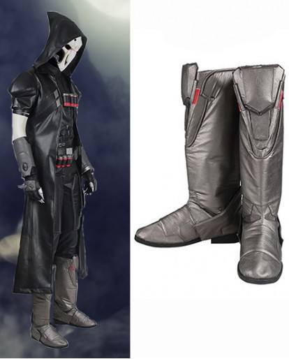 Reaper Gabriel Reyes Overwatch Shoes Cosplay Boots