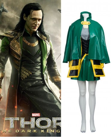 Loki The Avengers for Female Cosplay Costume