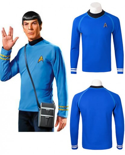 Star Trek Spock Long sleeve Shirt Cosplay Costume