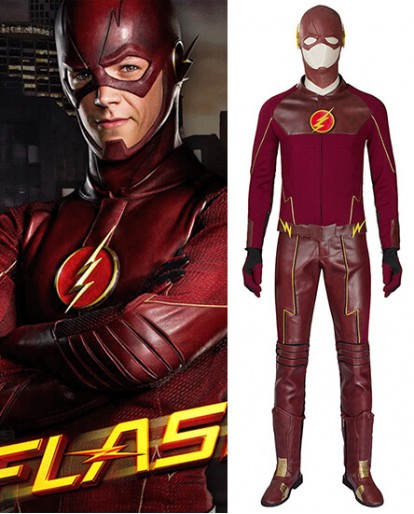 New The Flash Improved Edition Cosplay Costume