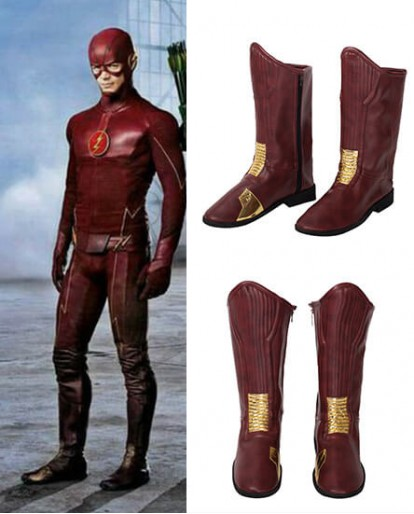 New The Flash Improved Edition Red Shoes Cosplay Boots