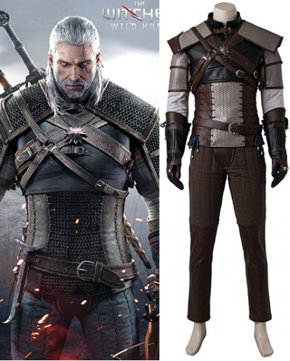 Geralt of Rivia The Witcher 3 Wild Hunt Cosplay Costume