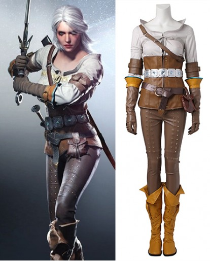 Wild Hunt Cirilla The Witcher 3 Cosplay Costume