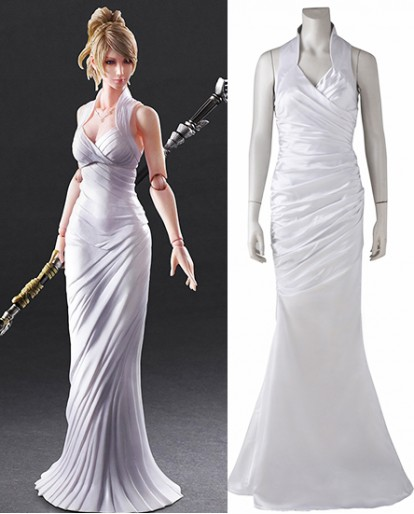 Lunafreya Nox Fleuret Final Fantasy XV White Cosplay Costume